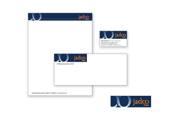 Jadoo Power Logo and Stationery