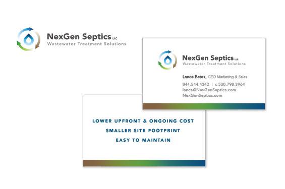 NexGen Septics Logo and Business Card