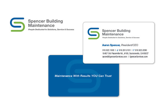 Spencer Building Maintenance Logo and Business Card