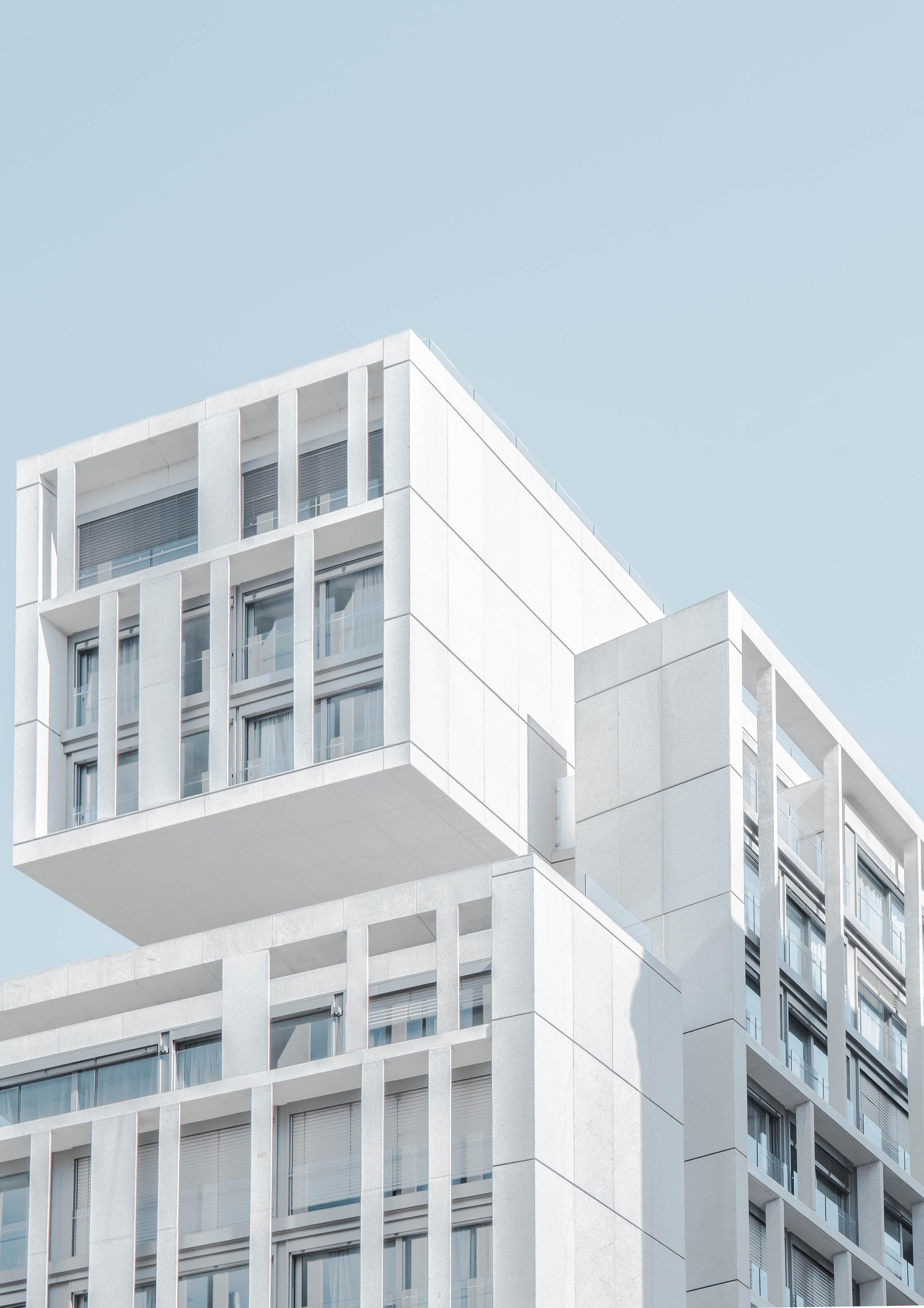 huge white condo