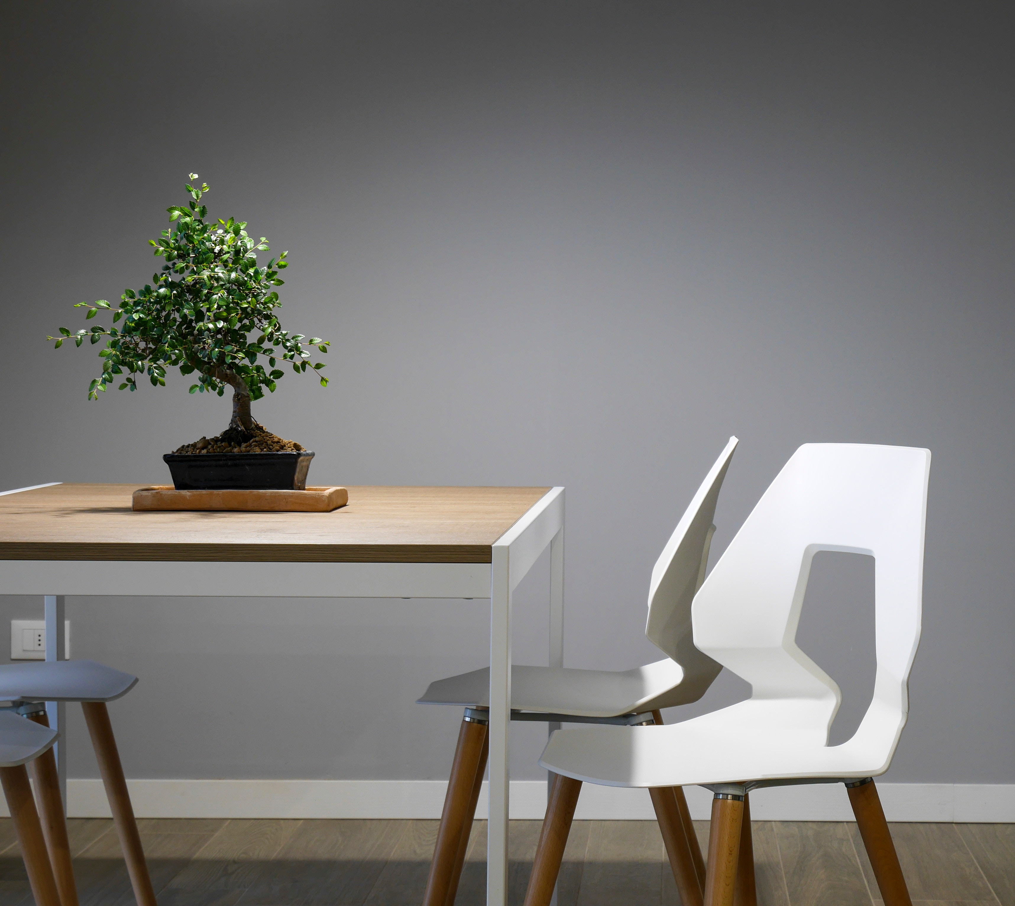 design of chairs and table