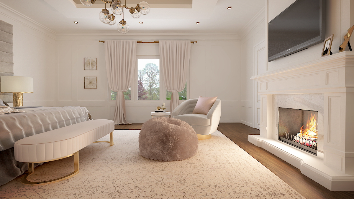 House interior rendering