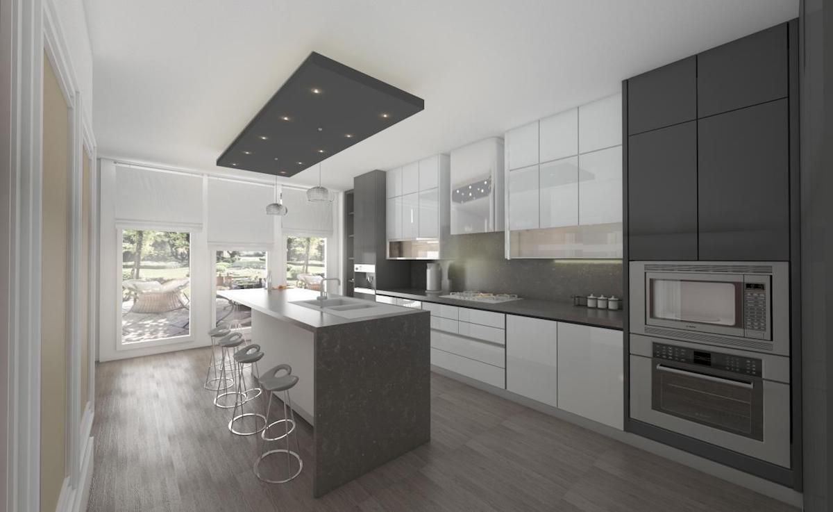 Residential interior rendering