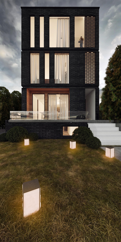 Modern exterior rendering