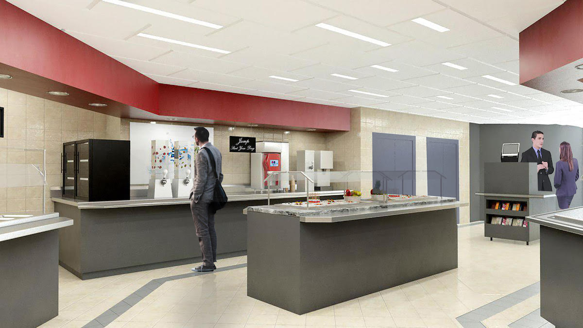 Interior rendering of Canadian Tire cafe