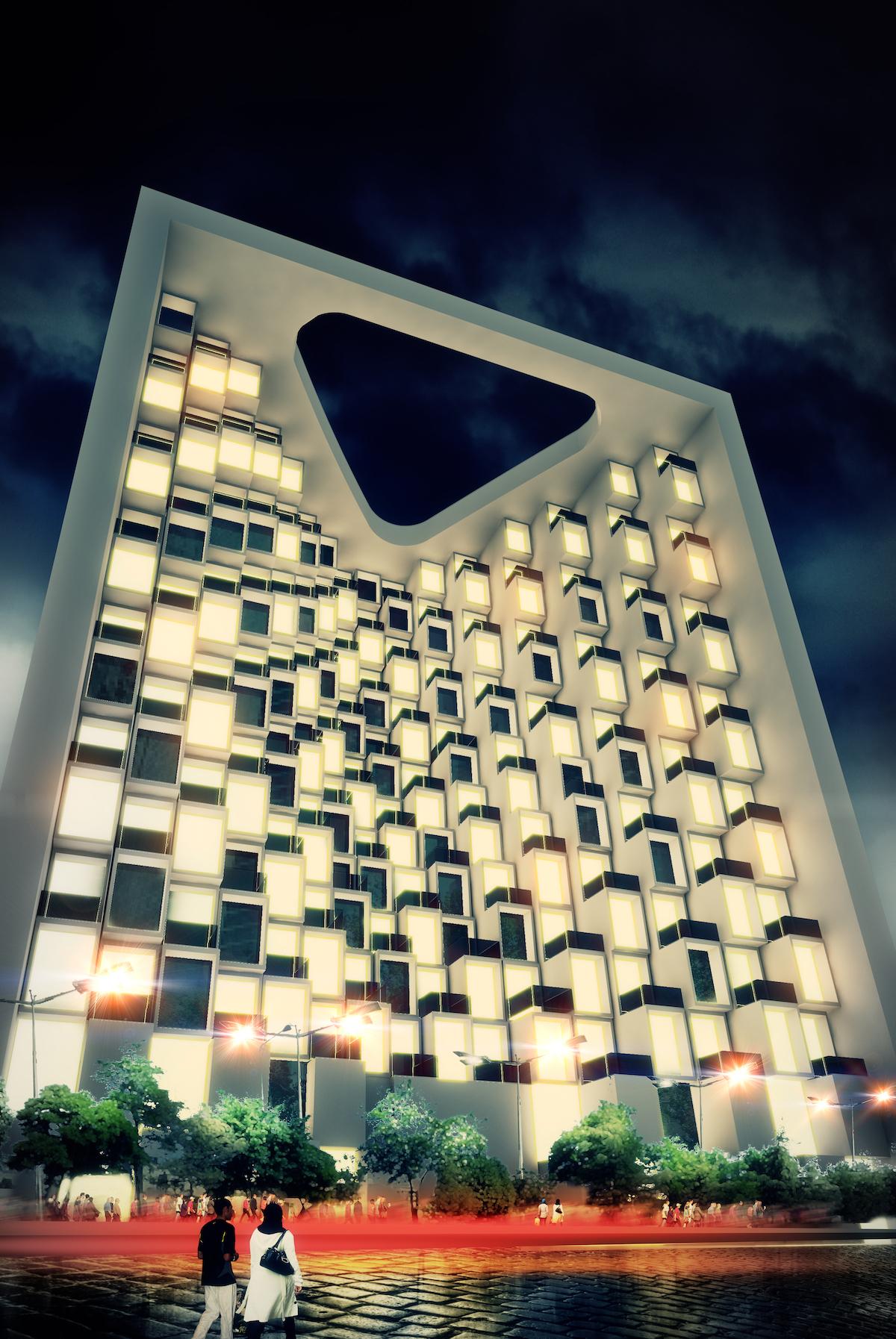 Exterior rendering of Asgari hotel