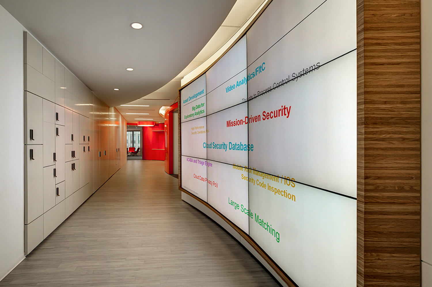 Hallway at Accenture at 800 North Glebe Road in Arlington, Virginia