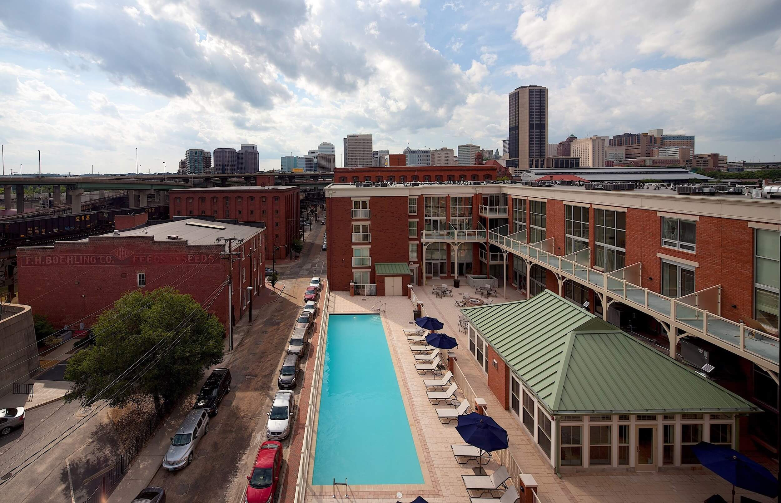 Overview of Canal Lofts IV in historic Richmond, VA