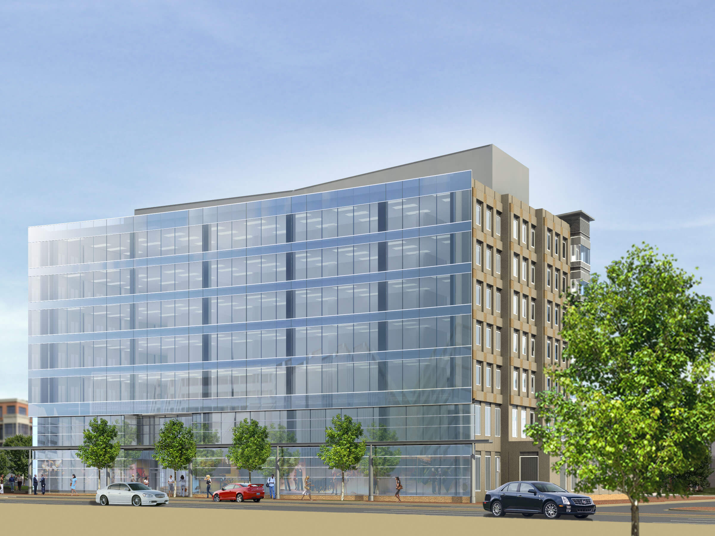 Virginia Tech's research facility at 900 North Glebe Road in located in the Ballston area of Arlington, VA