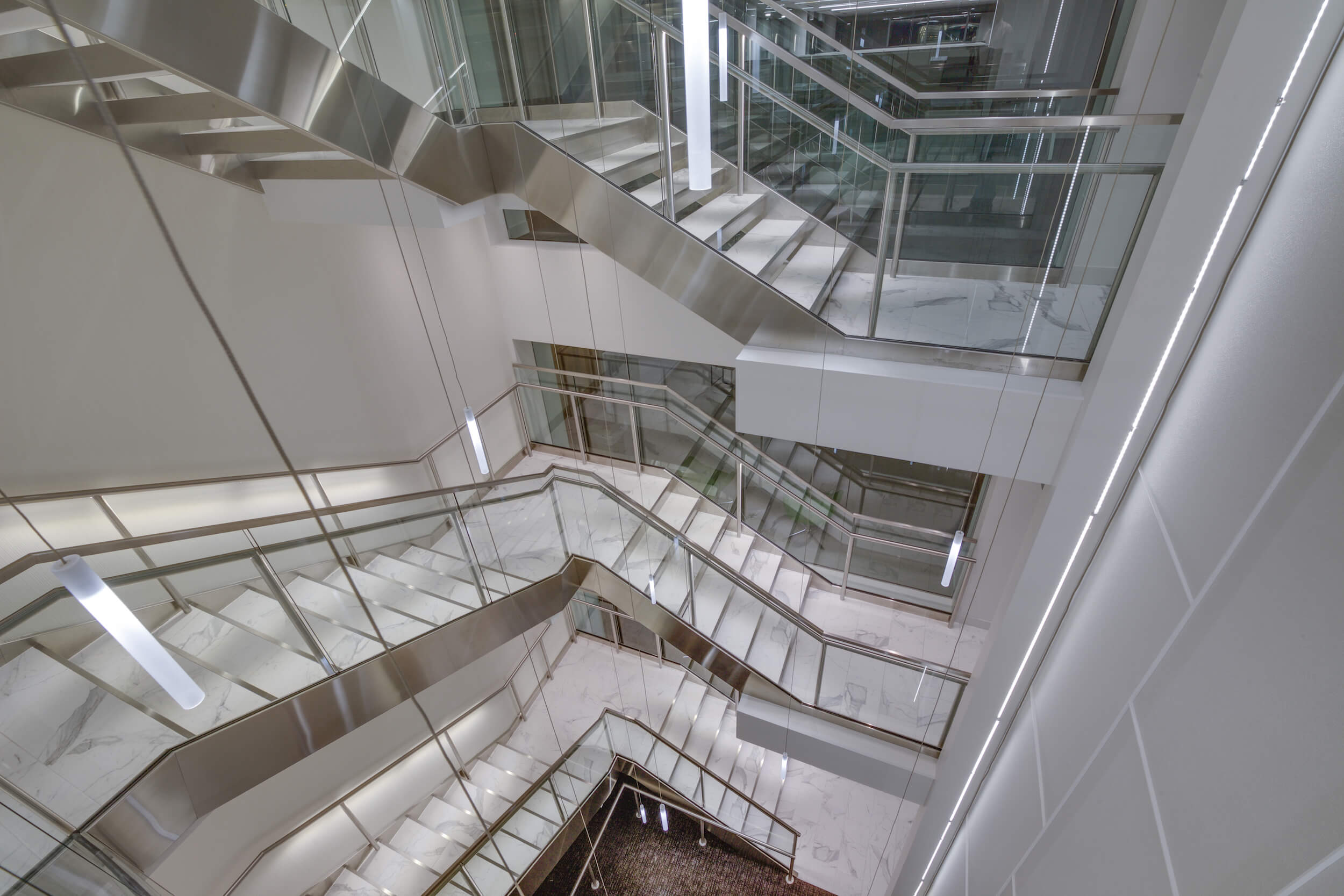 Stairwell of The Bozzuto Group Offices in Greenbelt, VA