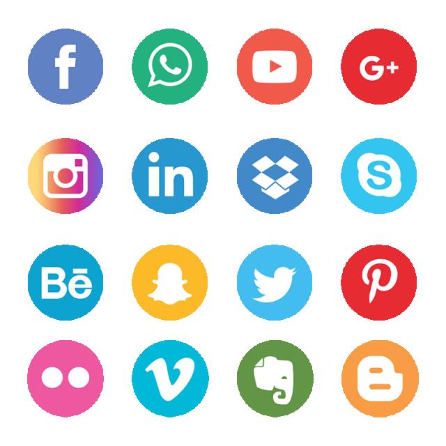 Iconos de redes socialesç
