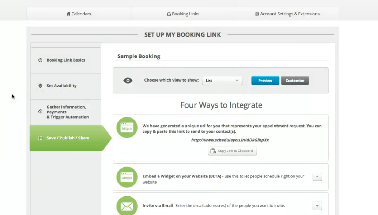 appointmentcore booking link url