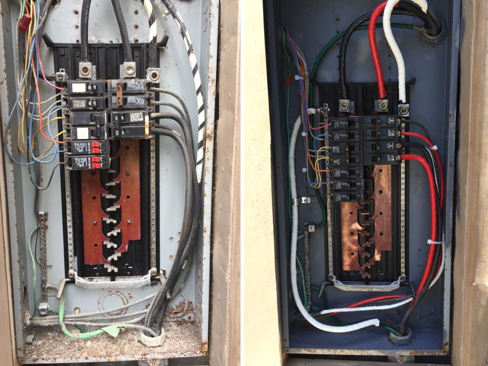 panel reconditioning electrical project