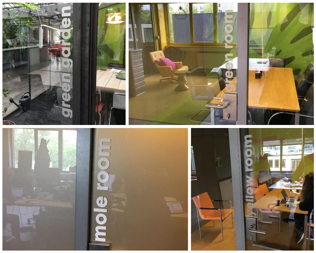 raamstickers bij IDTV in Amsterdam