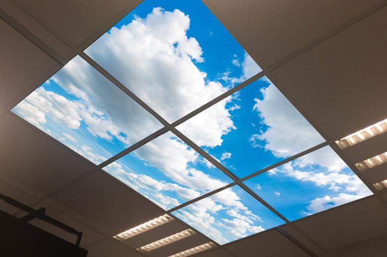 systeemplafond foto verlicht hemel