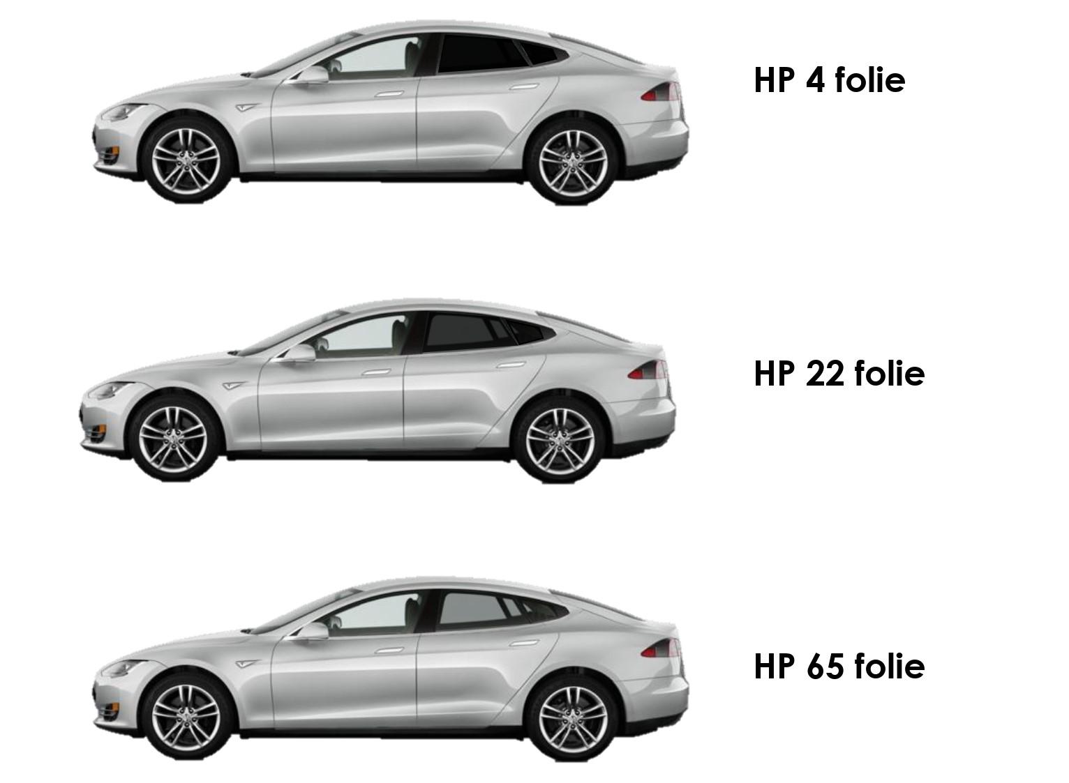voorbeelden percentages ramen tinten raamfolie auto