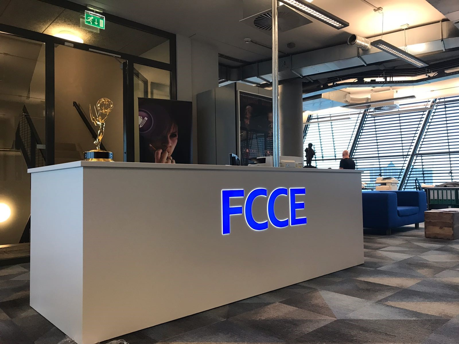 verlichte reclame receptie logo FCCE