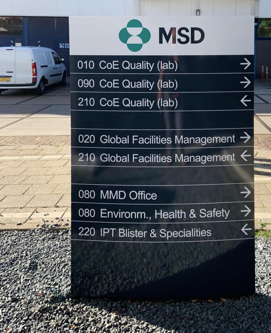 MSD verlichte reclame & bewegwijzering zuil - FDS
