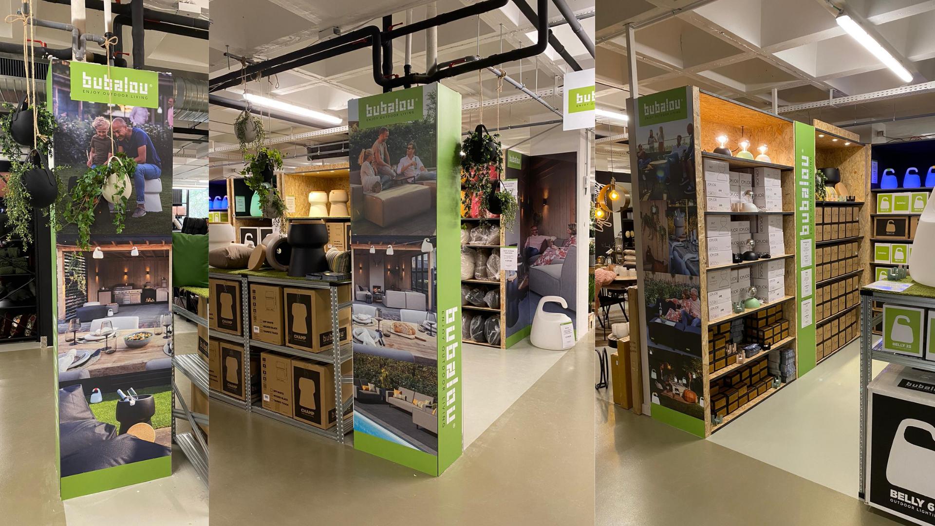 product borden indoor reclame retail