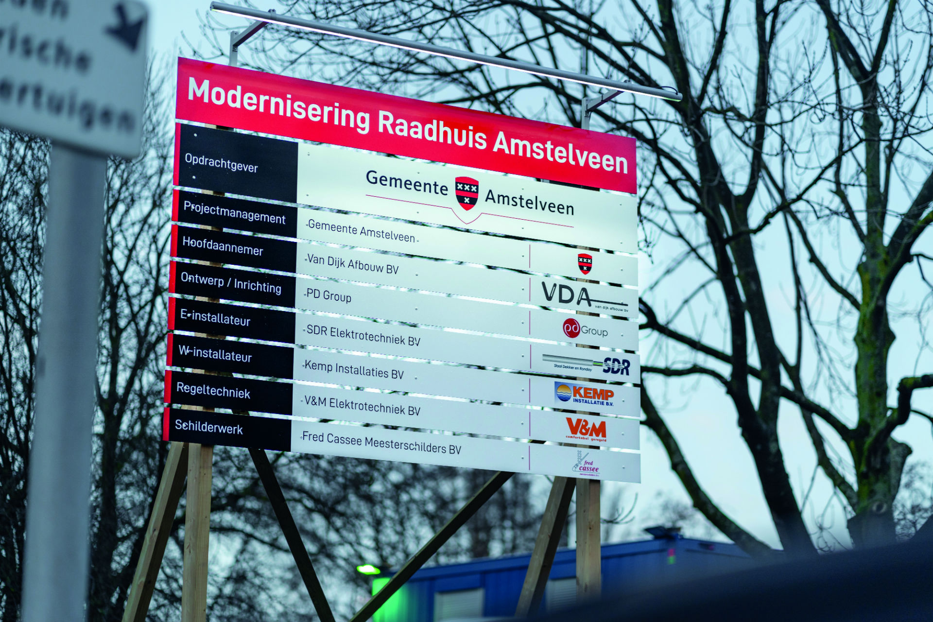 Bouwbord gemeente projectbord FDS Signmakers