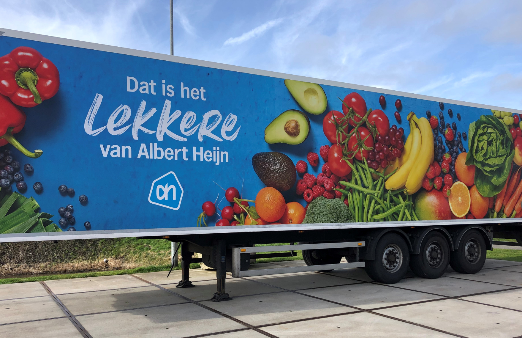 Vrachtwagenbestickering Albert Heijn FDS Signmakers