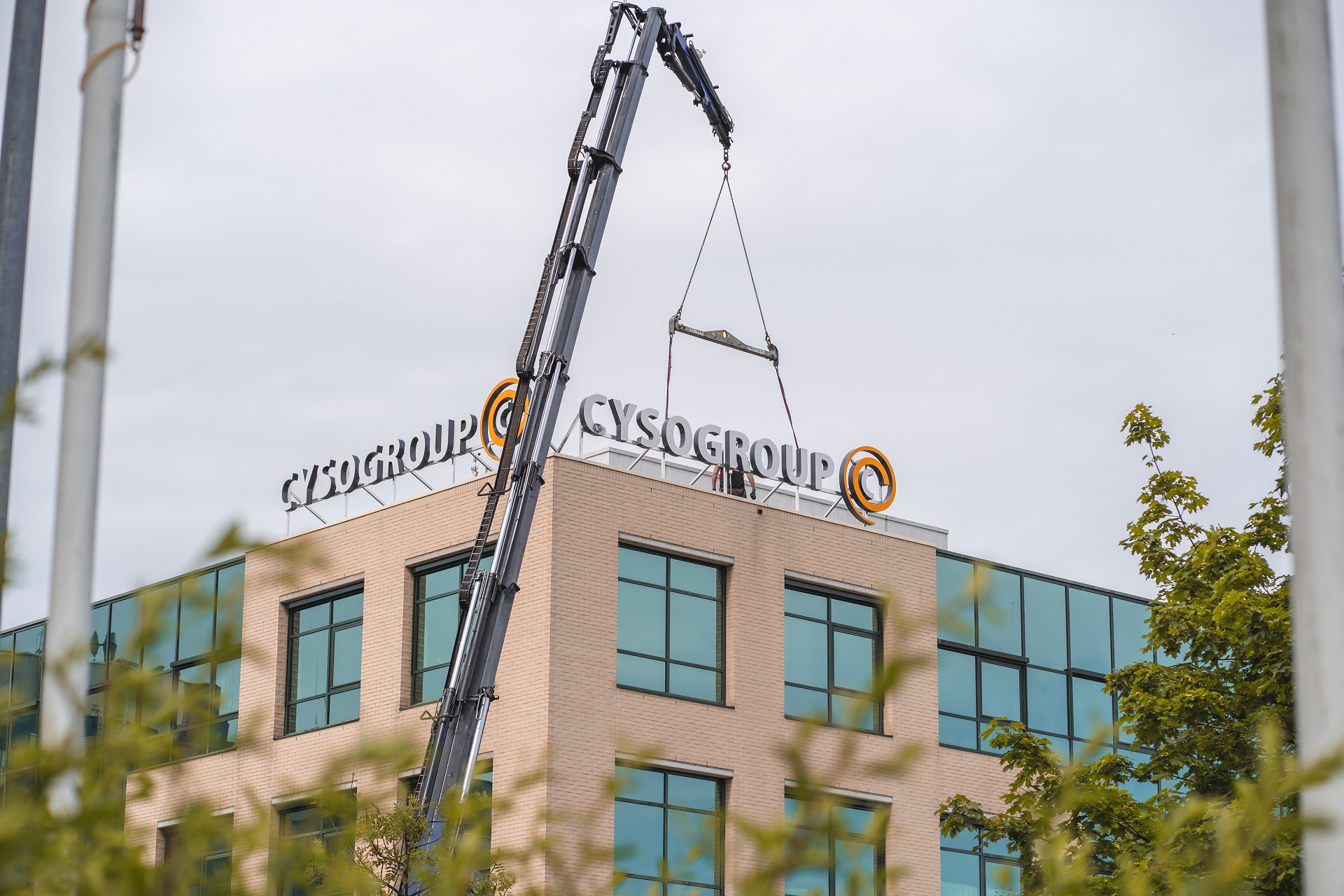 Gevelreclame verlicht frame Cyso Group_FDS Signmakers
