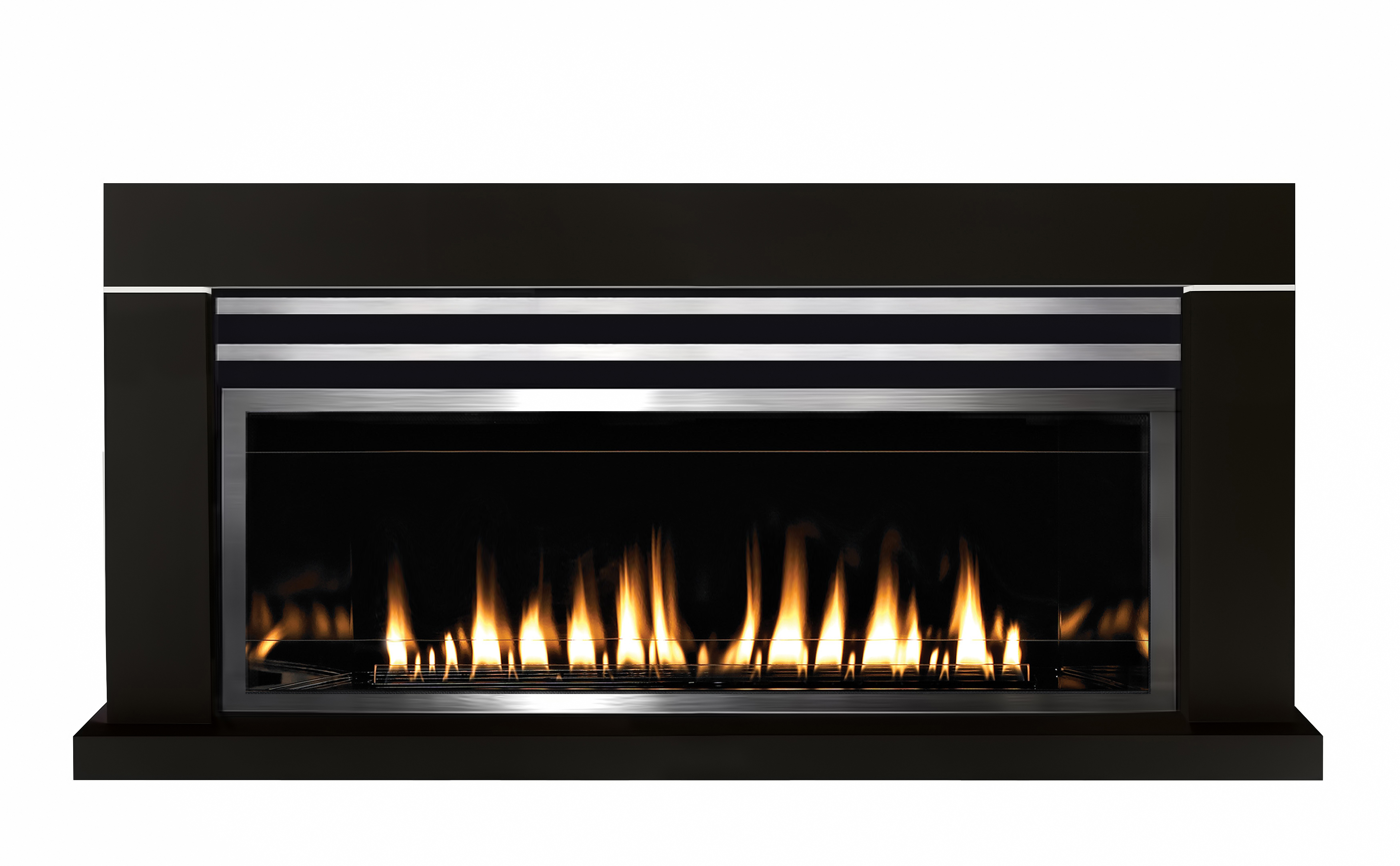 Gas powered fireplace