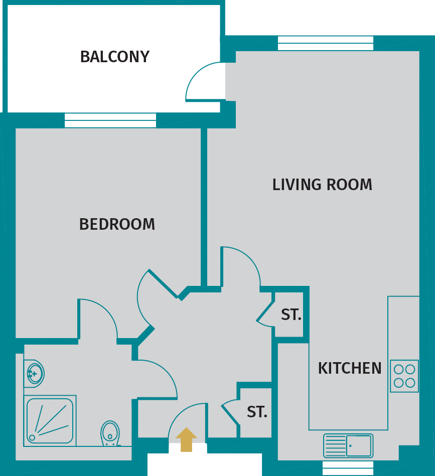 Foxton floorplan