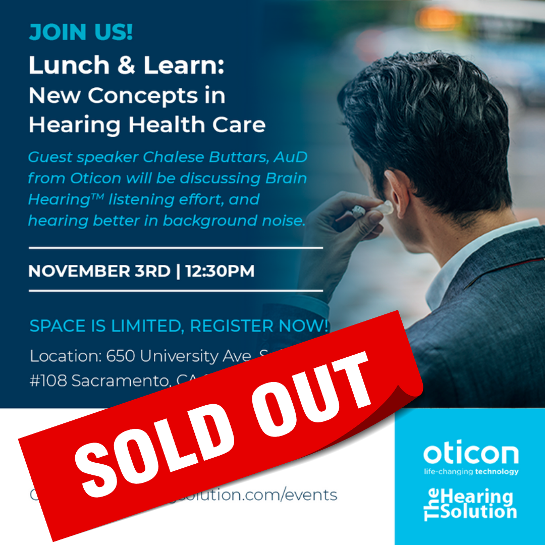 Lunch & Learn: New Concepts in Hearing Health Care