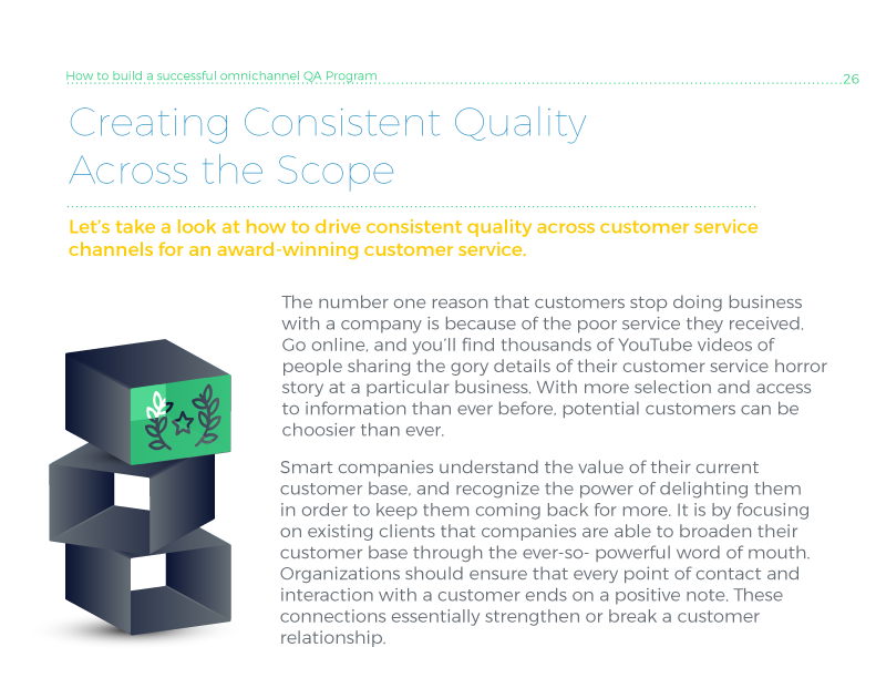 Creating consistent quality across all service channels