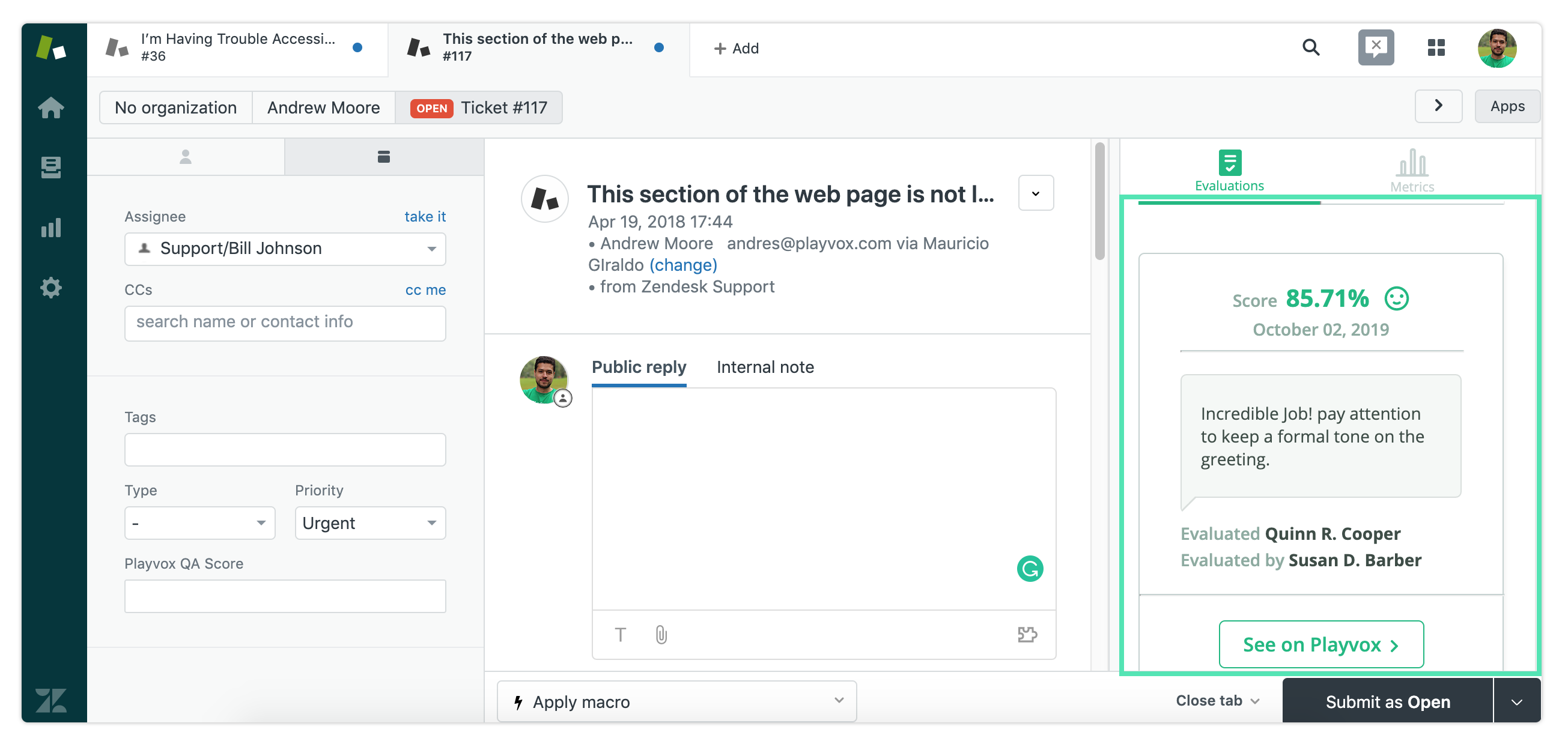 Quality assurance for Zendesk Chat and Support