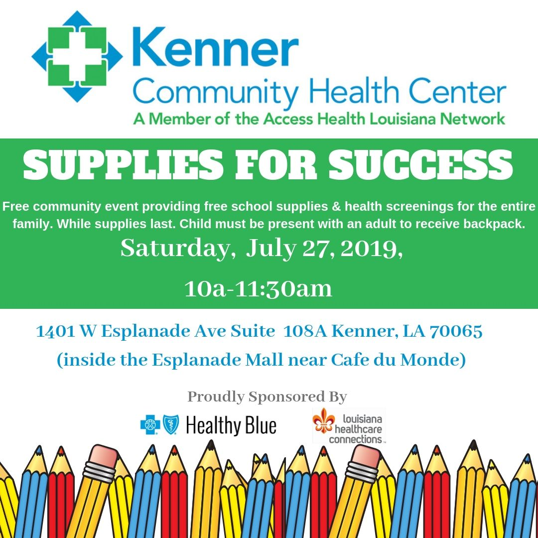 Supplies for Success information