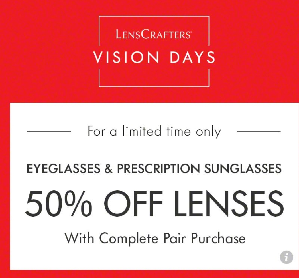 50% off lenscrafters