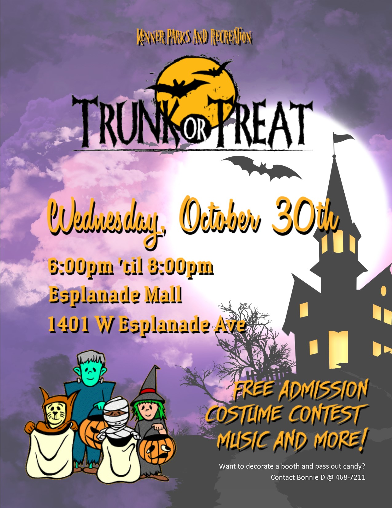 Image of Trunk or Treat poster with event details