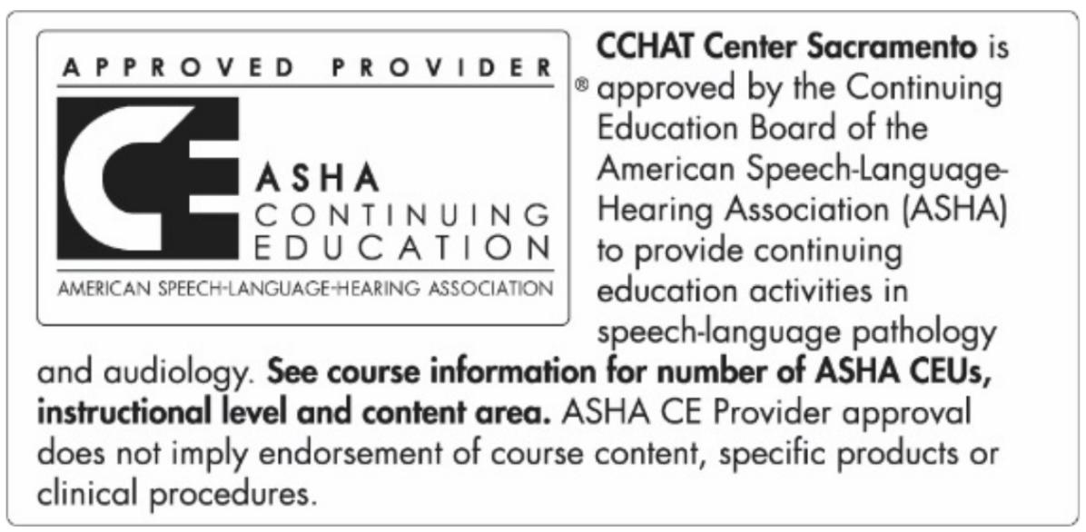 ASHA - CCHAT Sacramento