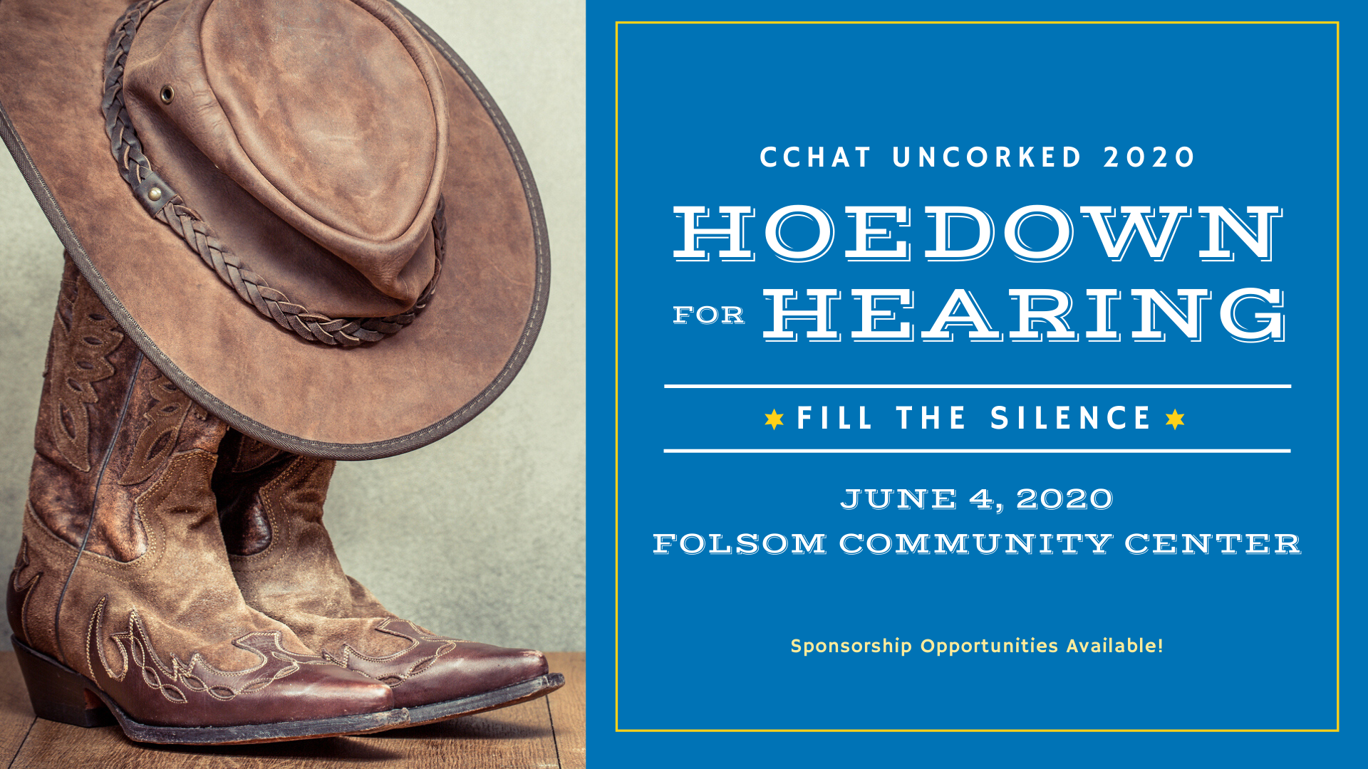 CCHAT Uncorked 2020 - Hoedown for Hearing (Rescheduled)