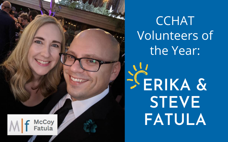 CCHAT Volunteers of the Year - Erika & Steve Fatula