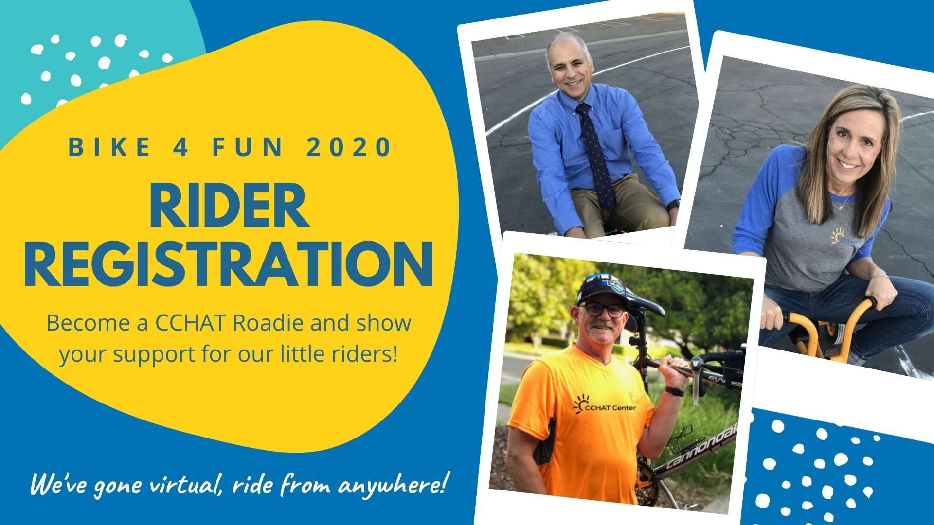 Become a CCHAT Roadie for Bike 4 Fun 2020!