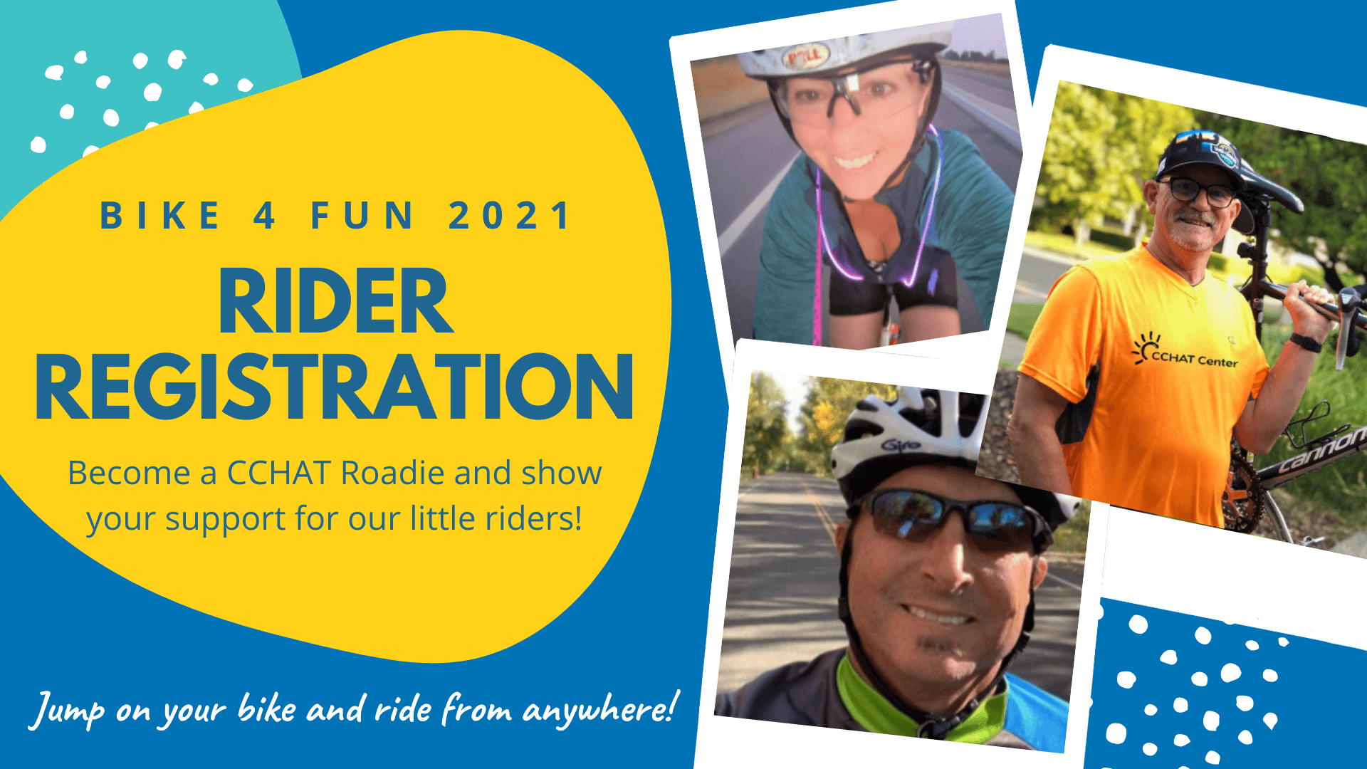 Become a CCHAT Roadie for Bike 4 Fun 2021!