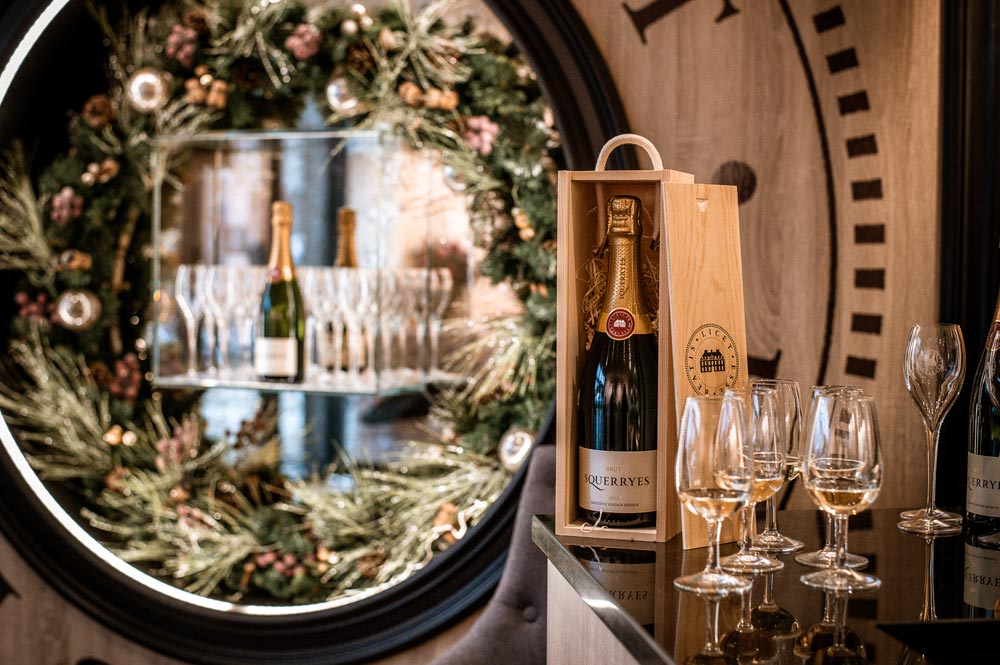 Christmas gifts Squerryes English sparkling wine Kent