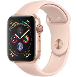 Apple Watch Series 4 GPS + Cellular, 40mm Gold Aluminium Case with Pink Sand Sport Band