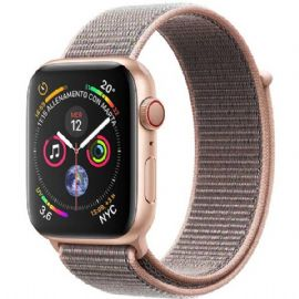 Apple Watch Series 4 GPS + Cellular, 40mm Gold Aluminium Case with Pink Sand Sport Loop