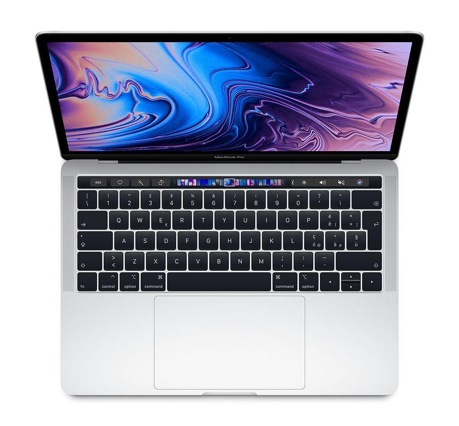 "Apple MacBook Pro 13"" Touch Bar i5 quad-core 2.3GHz / RAM 8Gb / SSD 256GB / Intel Iris Plus Graphic 655 - SIlver - internazionale"