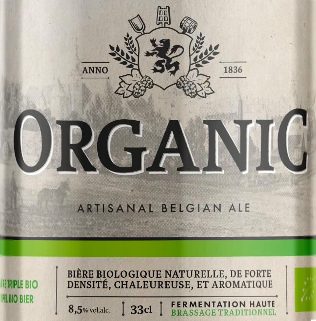 Etiquette La Binchoise Organic Triple
