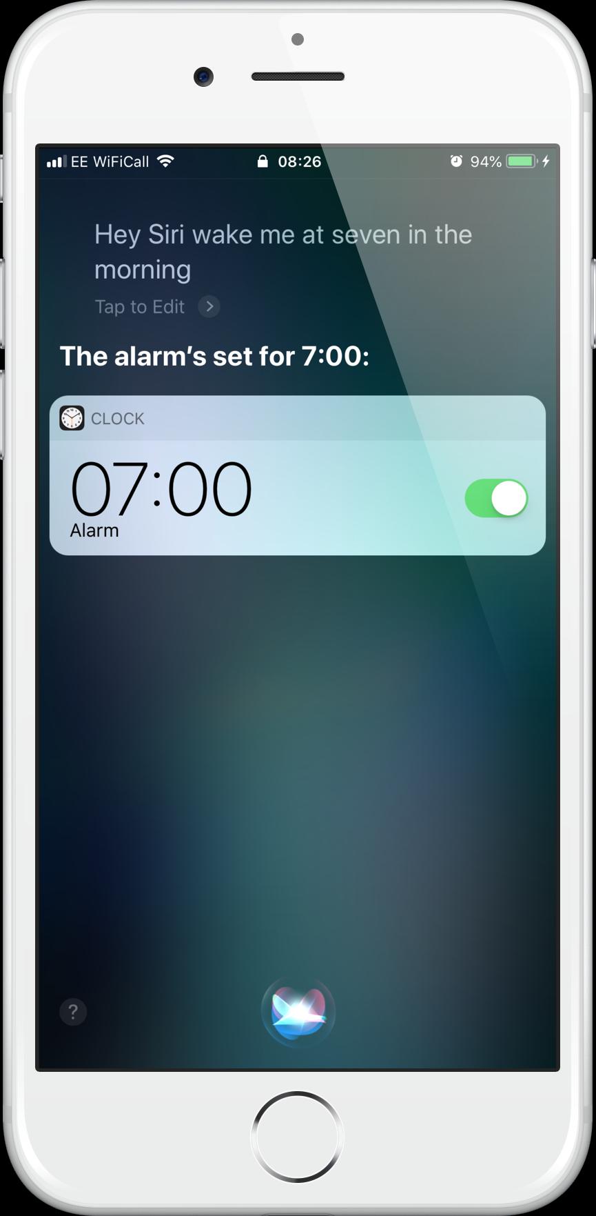Alarm at 7am