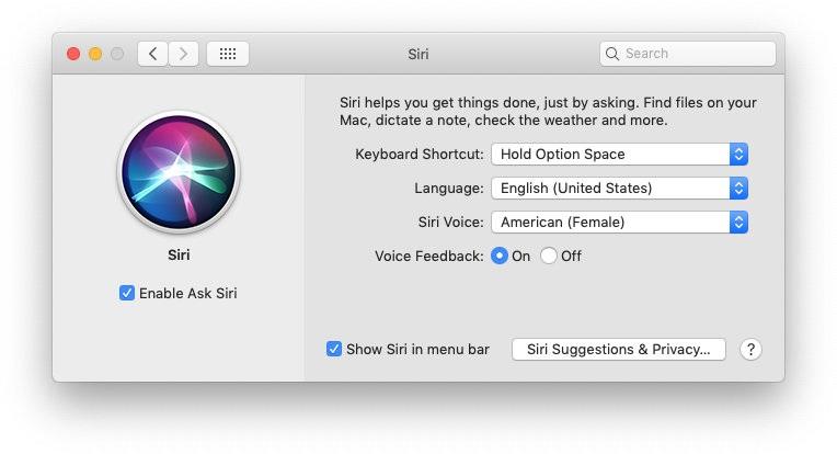 Siri on macOS