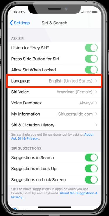 Siri Translate Language