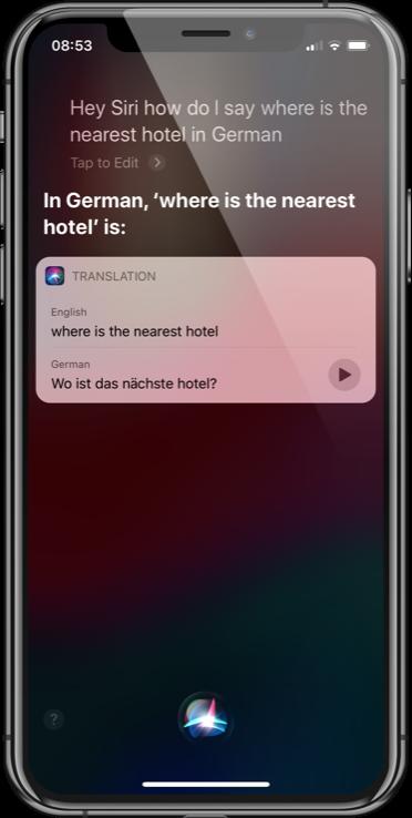 Siri Translate German