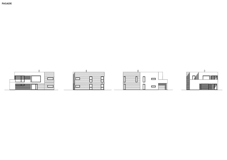 Illustrasjon: Hus 04 plantegning fasade