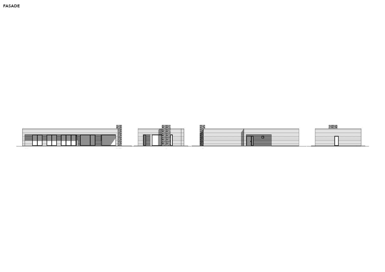 Illustrasjon: Hytte 02 fasade tegning